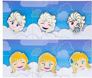 Disney Parks Emoji Blitz Frozen Booster Set 6 Pins with Elsa and Anna