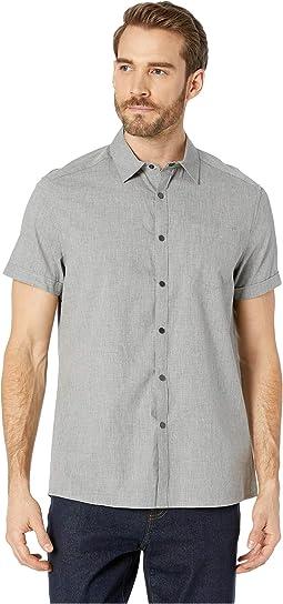 Short Sleeve Stripe Snap Shirt