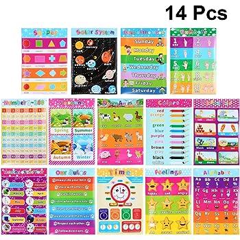 Nombres 0-10 couleurs avec poster inclus ~ l/'enseignement premiers numéros et couleurs