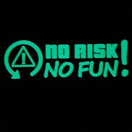 Folien Zentrum No Risk No Fun Leuchten Im Dunkeln Nachleucht Leucht Shocker Hand Auto Aufkleber Jdm Tuning Oem Dub Decal Stickerbomb Bombing Fun W Auto