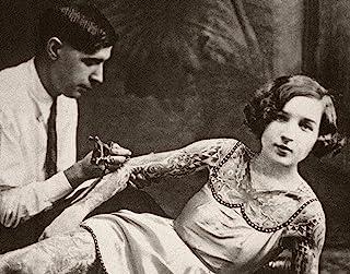 Lone Star Art Tattooed Lady Bizarre Strange Weird Vintage Photo - 11x14 Unframed Print - Perfect Tattoo Parlor Decor