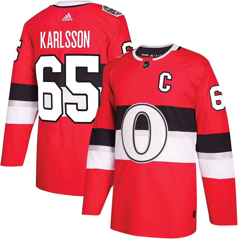 Adidas Ottawa Senators Erik Karlsson 100th Year Authentic Pro Jersey Red