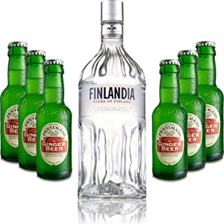 Moscow Mule Set - Finlandia Vodka 1L 40% Vol  6x Fentimans Ginger Beer 200ml - Inkl. Pfand MEHRWEG
