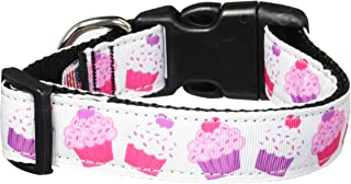 Mirage Pet Products 125-105 MD Pink and Purple Cupcakes Dog Collar, Medium