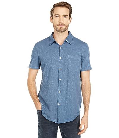 Mod-o-doc Montana Short Sleeve Button Front Shirt (Smokey Blue) Men