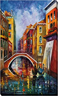 Picture Perfect International Giclee Stretched Wall Art by Leonid Afremov Venice Bridge Artists-Canvas, 18