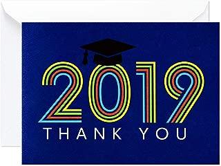 Hallmark Graduation Thank You Cards, Retro Blue (20 Thank You Notes with Envelopes)