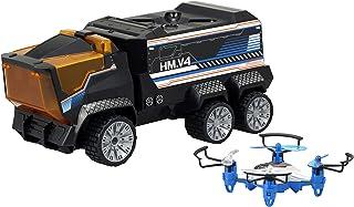 "SilverLit Drone Mission RC Truck, Black, 10"" x 5&"