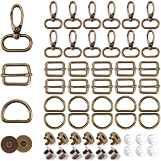 10pcs 2318mm DIY leather purse bag decoration round pine Spring padlock hanger lock  accessories  NFL-PL-009