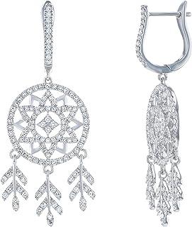 Olivia Paris 1 1/3 Ct. White Gold Dream Catcher Inspired Diamond Chandelier Earrings