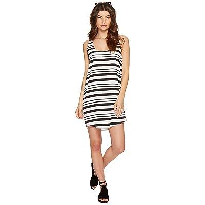 BB Dakota Rowland Striped Shift Dress (Optic White) Women