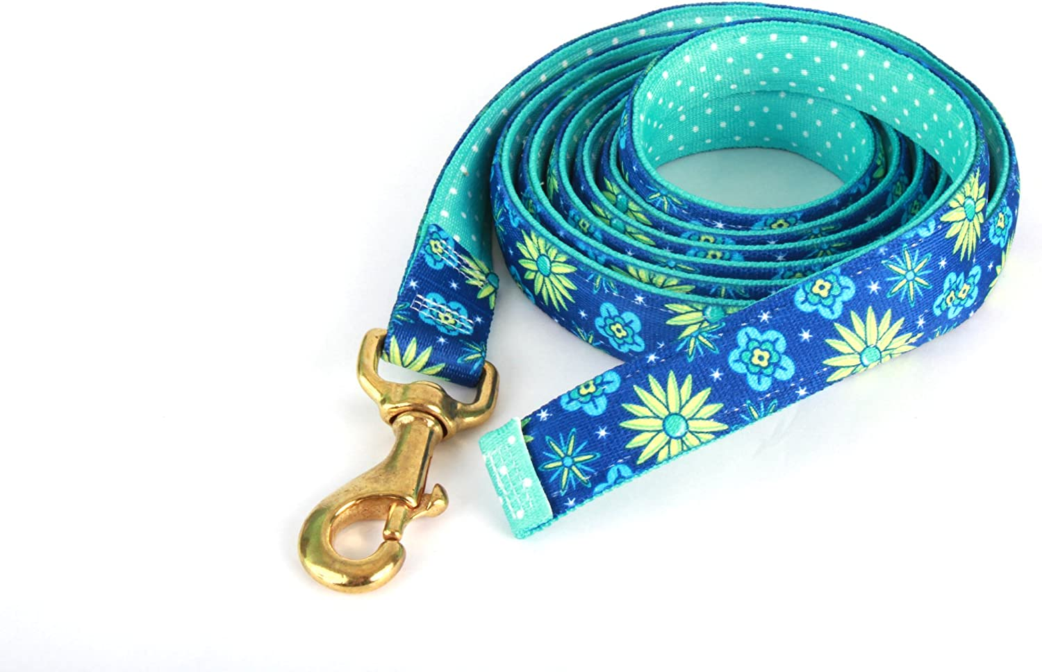 Red Haute Horse TEF1205 LD High Fashion Horse Lead, Teal Flowers