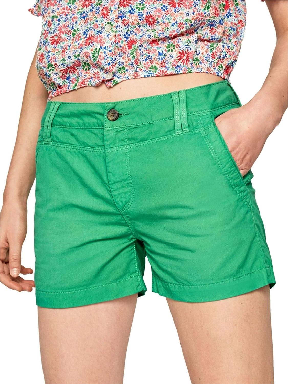 Pepe Jeans Women's Bright Green Swim Shorts