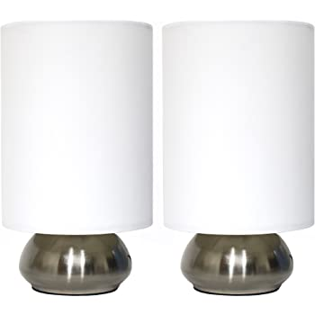 Simple Designs Home LT2016-IVY-2PK Table Lamp Set, Ivory Shade