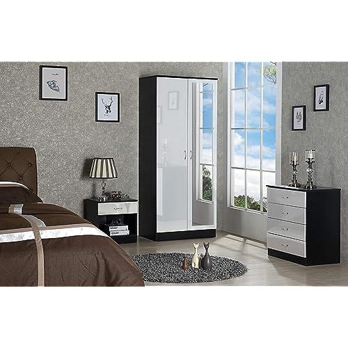White High Gloss Bedroom Furniture Sets: Amazon.co.uk