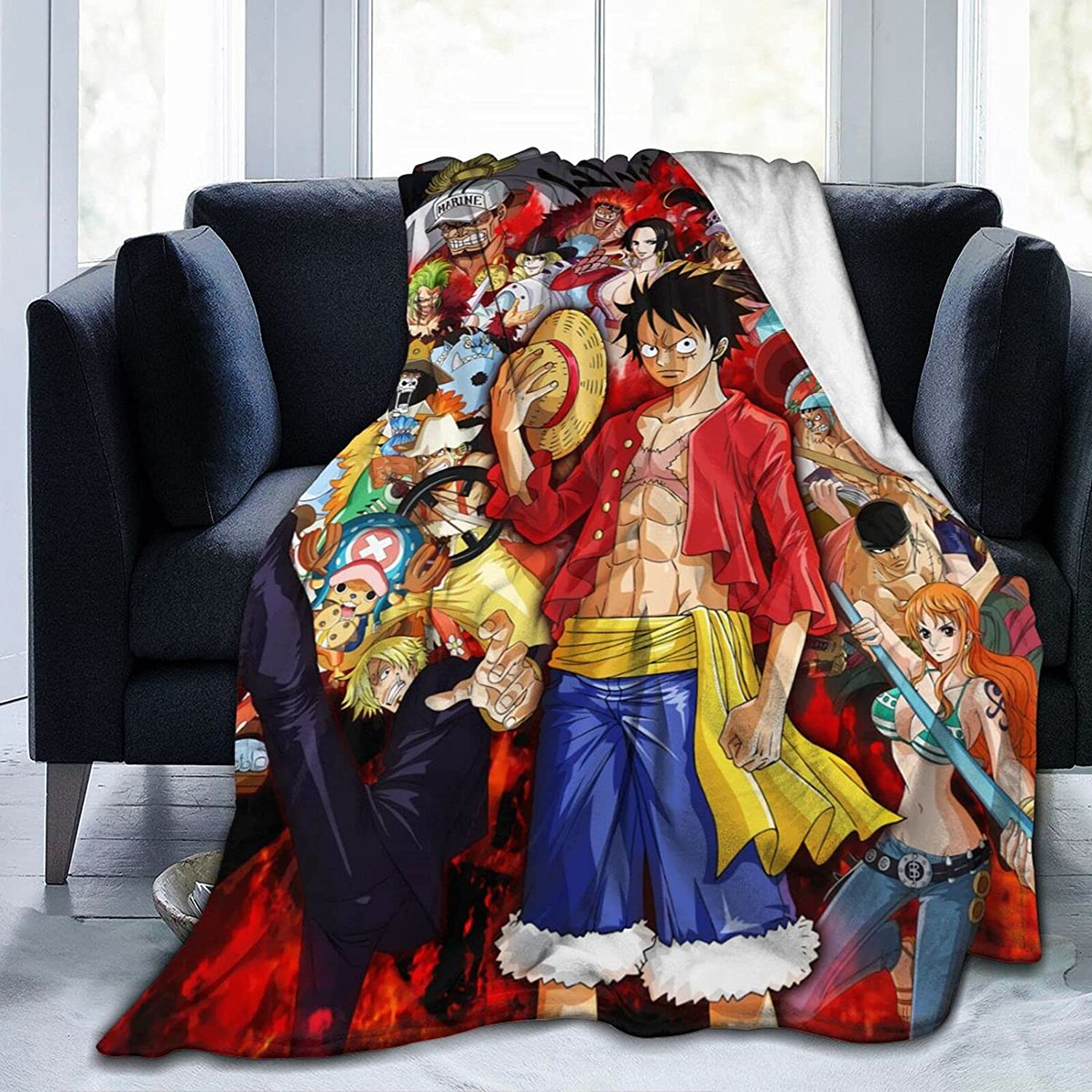 Max 65% OFF icoup Anime One Piece Straw Hat Throw Pirates Super Ranking TOP7 Blanket Soft