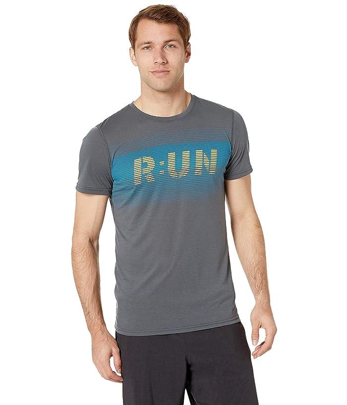 Brooks Distance Graphic T-Shirt (Heather Asphalt/Digital Run) Men