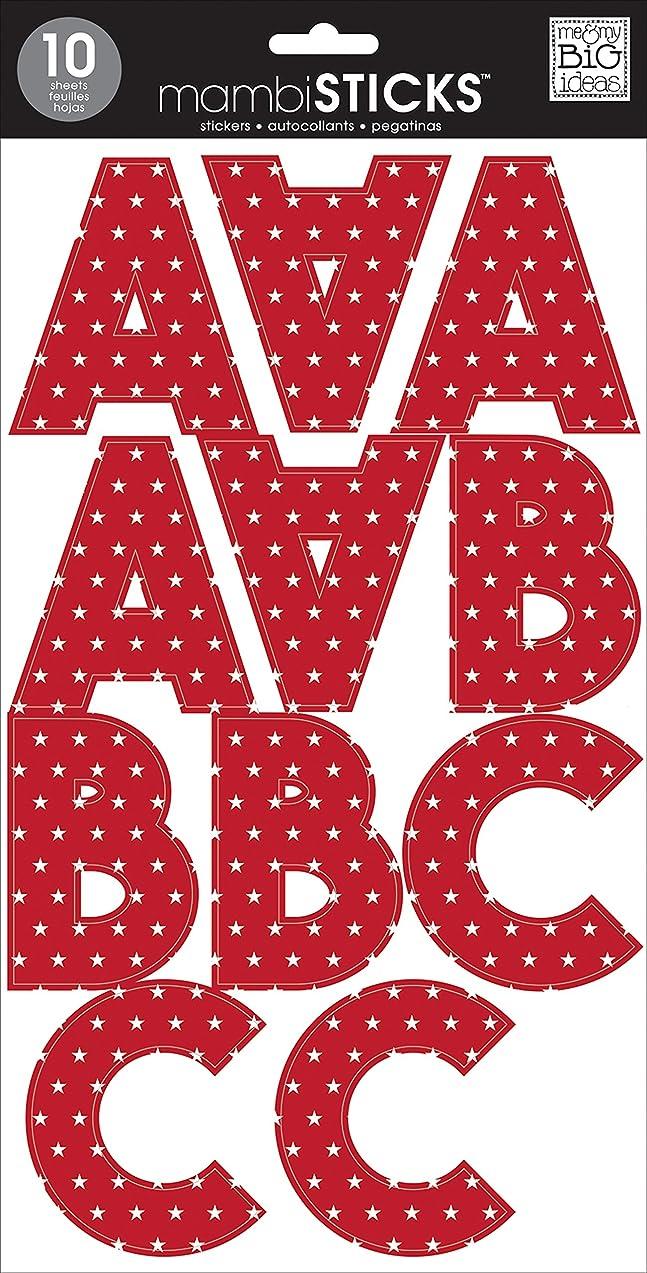 me & my BIG ideas Large Alpha Sticker, Tara Red Stars