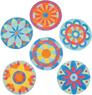 Mandala Sand Art Craft Kits (Makes 24) Colorful Sand Included