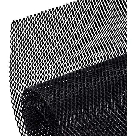 Aluminum Alloy Automotive Grille Insert Bumper Rhombic Hole 6x10mm One of The Most Multifunctional Shape Grids Black Viccilley Universal 40 inch x13 inch Car Grill Mesh