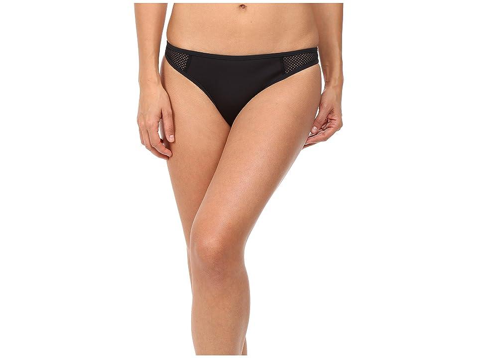 Stella McCartney Neoprene Mesh Classic Bikini Bottom (Black) Women