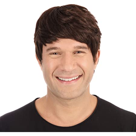Bristol Novelty BW305 Male Wig Short Brown, One Size