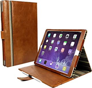 Alston Craig Personalised Vintage Genuine Leather Slim-Stand Case Cover for iPad Pro 12.9