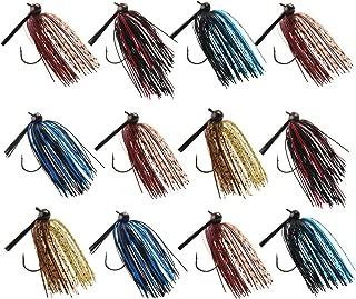 JSHANMEI Fishing Jigs Bass Fishing Lures, Flipping Jigs, Swim Jigs, Football Jigs, Silicone Skirts Artificial Baits Fishing Lure Kit