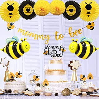 Mommy to Bee Baby Shower Decorations Supplies Kit by KeaParty,Bumble Bee Decorations, Mommy to Bee Banner, Bee Cupcake Toppers, Honey Bee Balloons for Bee Themed Party