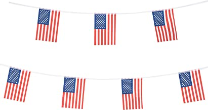 American US Flag,100Feet/76Pcs World Country Pennant Banner Flags String,Indoor Outdoor flags Decorations Supplies For 4th Of July,Sports Events,Intarnational Festival,Sport Events, Birthday,Carnival