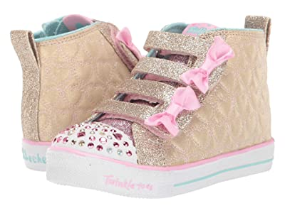 SKECHERS KIDS Shuffle Lite Quilted Beauties 20271N (Toddler/Little Kid) (Gold/Pink) Girl