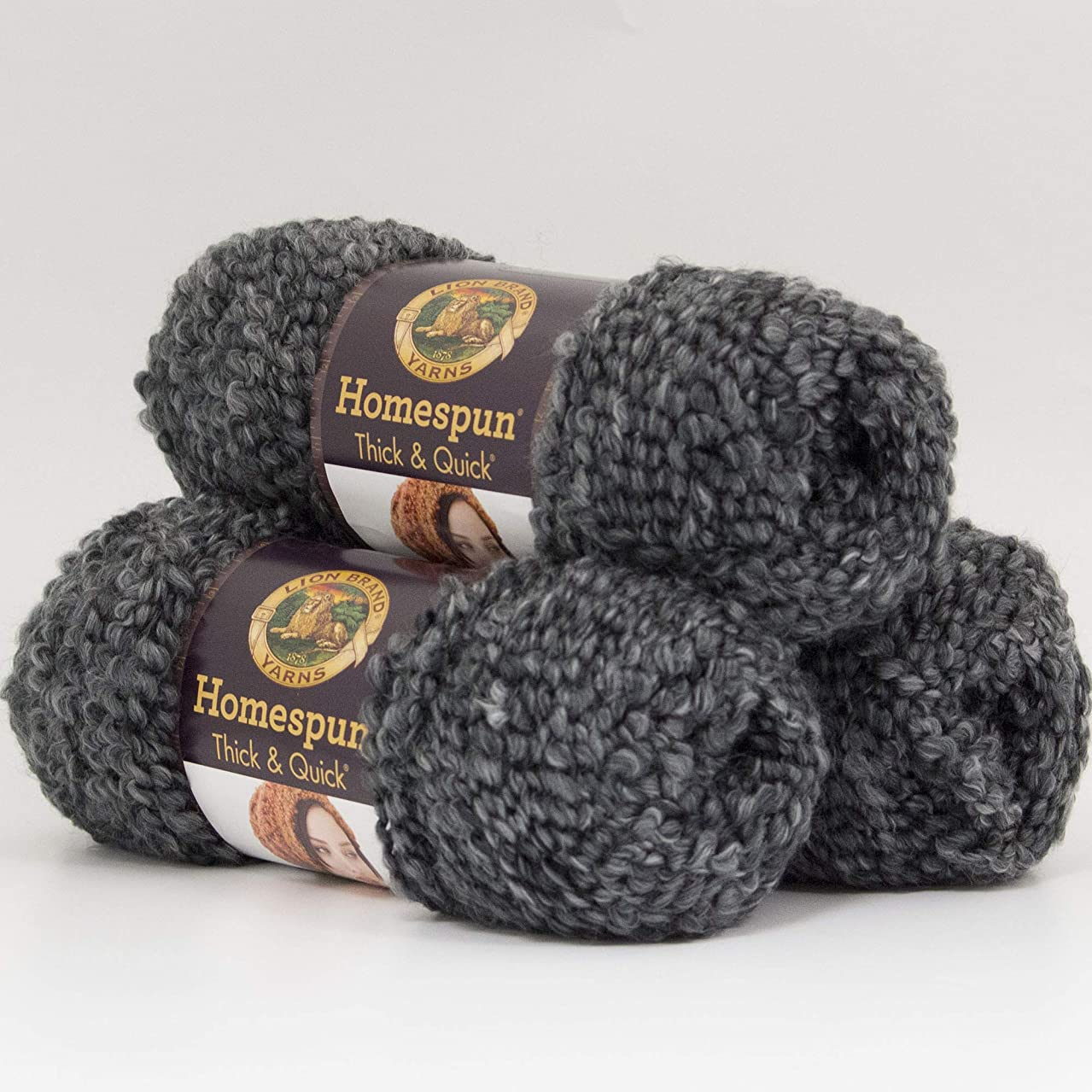 (3 Pack) Lion Brand Yarn 792-312 Homespun Thick and Quick Yarn, Edwardian