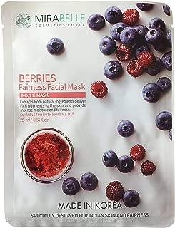 Mirabelle Fairness Facial Mask, Berries, 25ml