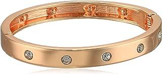 Narrow Hinge with Crystal Bangle Bracelet