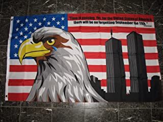 RFCO 3x5 Never Forget 9-11 Flag September 11 911 USA 3x5 Feet 36x60 Inches