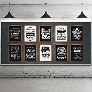 10 Pieces Motivational Classroom Posters Industrial Chic Bulletin Board Poster Laminated Inspirational Quotes Positive Pos...