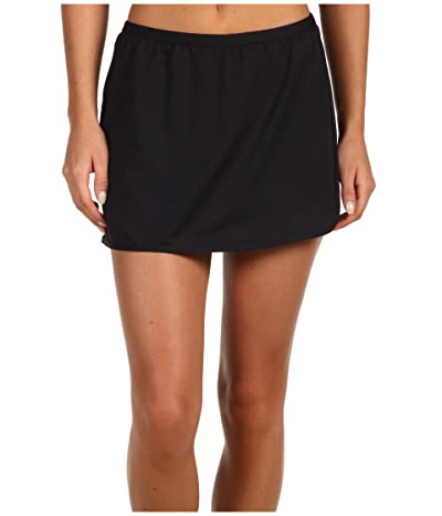 TYR Solid Swim Skort (Black) Women