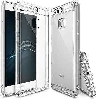Ringke - Funda Huawei p9, [Fusion] Choque absorción TPU Parachoques [Choque tecnología absorción][conviviente tapón Antipolvo] para Huawei p9 - Crystal View