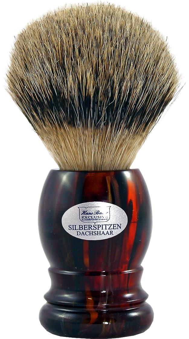 Shaving brush silvertip badger, Havanna handle - Hans Baier Exclusive