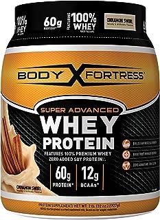 Body Fortress Super Advanced Whey Protein Powder, Gluten Free, Cinnamon Swirl, 2 Pound