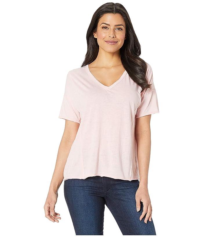 Lucky Brand  Seamed Burnout Tee (Blossom) Womens T Shirt