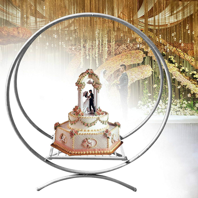 60cm 80cm Wedding Cake Stand 別倉庫からの配送 正規品スーパーSALE×店内全品キャンペーン Metal Flower Floral Circle Ho