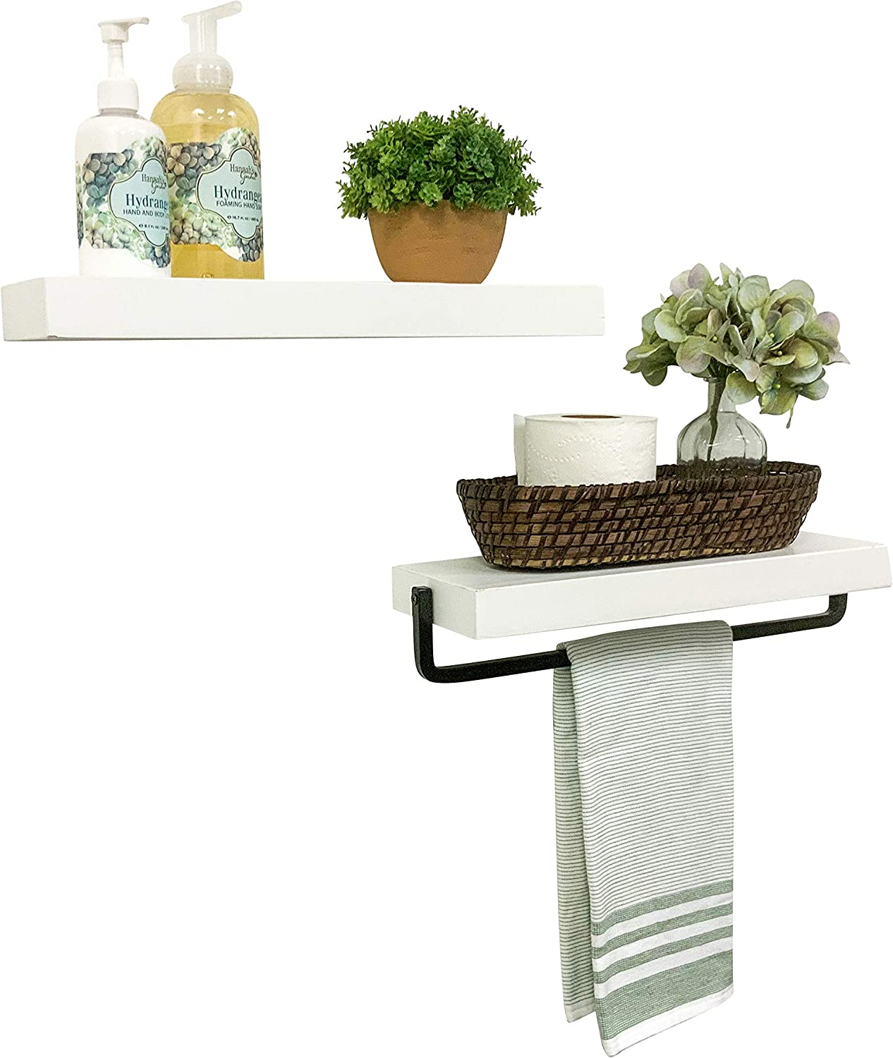True Floating Towel Holder Set White 16 Our shop OFFers the best service Sale item Inch