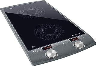 Sencor SCP 4202GY Plaque de cuisson à induction double zone - 2900W - Diamètres de 145 et 167 mm - Contrôle de la températ...