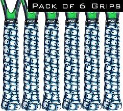 Alien Pros Tennis Racket Grip Tape (6 Grips) - Precut and Dry Feel Tennis Grip - Designer Tennis Overgrip Grip Tape Tennis Racket - Wrap Your Racquet for High Performance (6 Grips)