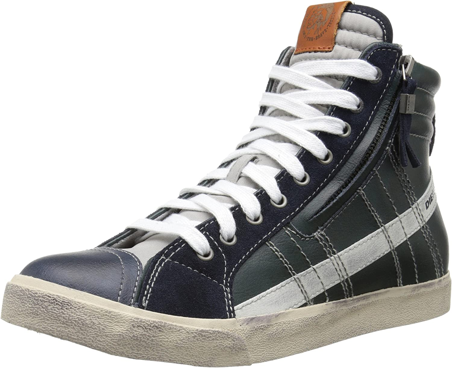 Diesel Men's Velows String Leather Fashion Sneaker