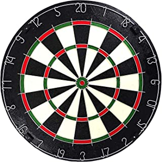 Professional Dartboard | for Steel Tip Darts | Natural Fibers Material for Self- Healing Ability | Movable Number Ring | Tournament Size 18