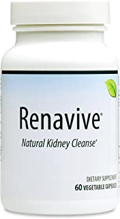 Renavive - Kidney Stone Cleanse (1 Bottle) | Kidney Stones Made Easy | Fast Relief | Dissolve Kidney Stones | Protect Against Kidney Stones | Join Thousands of Users! 60 Vegetable Capsules