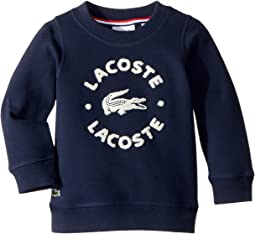 Lacoste Kids - Long Sleeve Pique Fleece Croc and Writing Embroidered Sweatshirt (Toddler/Little Kids/Big Kids)