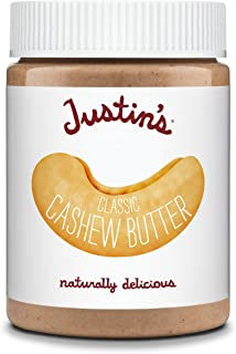 Justin's Classic Cashew Butter, Only Two Ingredients, No Stir, Gluten-free, Non-GMO, Responsibly Sourced, 12oz Jar